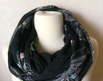 SALE Butterflies and Flowers Infinity Scarf