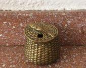 Vintage Brass Inkwell. Fi...