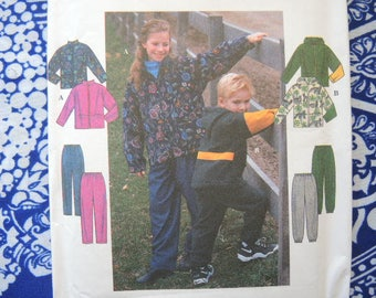 Vintage 1990s Simplicity sewing pattern 8342 child's jacket and pants size 3-4-5-6 UNCUT