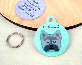 Cairn Terrier Dog Tag Personalised