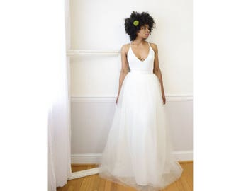 Tulle Skirt - Ivory (Size 8) Adult Tutu,  Wedding Skirt, Long Tulle Skirt, Maxi Tutu, Tulle Bridesmaid Skirt, Tüllrock