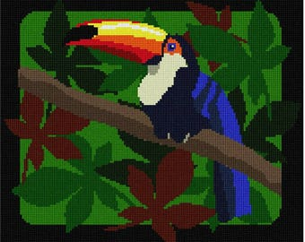 Needlepoint Kit or Canvas: Toucan