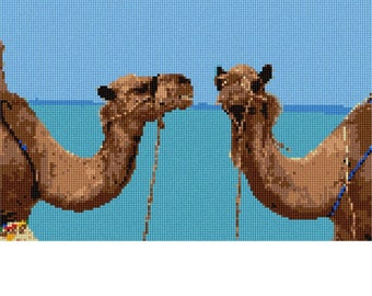 Needlepoint Kit or Canvas: Camels