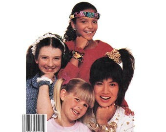 McCall's 3337 Elastic Hairbands Scrunches, Fabric Hair Ties, Bows and Rosette Craft Sewing Pattern Vintage 1980's UNCUT