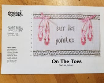 On the Toes smocking design plate by Creative Keepsakes