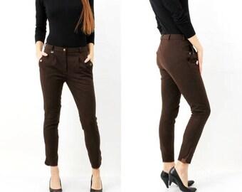 25% OFF Vintage Brown CRW Riding Pants / Equestrian Pants Size 40 / Taper Pants