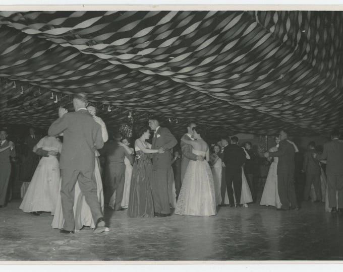 Vintage Snapshot Photo: Junior/Senior Prom Cameron High School, Missouri, c1950s 5x7 (710616)