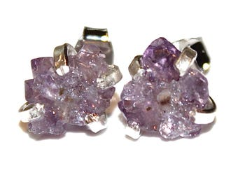 Tiny Stalactite Earring Crystal Flower Earring Amethyst Stalactite Jewelry Raw Gemstone Druzy Earring Drusy Earring Crystal Earring