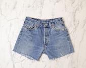 Levi's 501 denim shorts W 27   Levis jeans shorts   High waisted Levis shorts