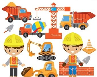 ON SALE INSTANT Download.  Construction clip art. CCon_11. Personal and commercial use.