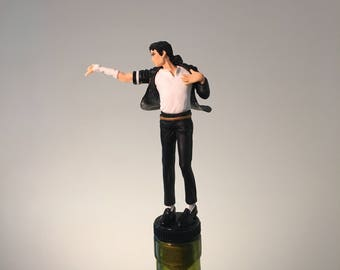 Michael Jackson Wine Topper, King of Pop, Wine Stopper, Dancer Bottle Wine Gift, Dance Gift, Bar Bottle Topper, Moonwalking,Wine Gifts