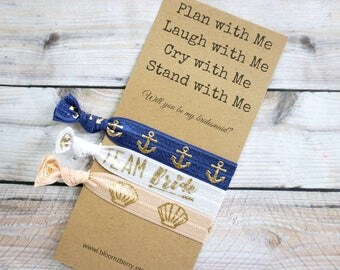 White/Navy/Peach/Gold Bridesmaid Gift 3 pcs gift set - Plan with Me, Laugh With Me, Cry with Me- Bachelorette Party/Wedding/Bridesmaid GIft