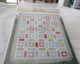 """Paper Pattern for a quilt called Seville  by Cluck Cluck Sew 66"""" x 78"""""""