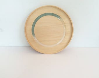 "10"" Wooden Plates with color, eco resin and wood, plate, dessert plate, serving plate by Willful"