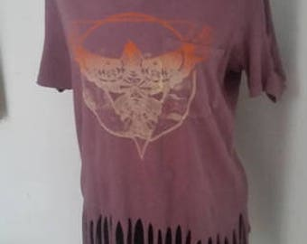 Ladies boho gypsy fringe shirt - size small, but fits loose like a M/L.