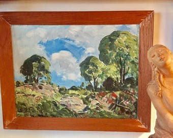 Emile Walters Lovely Small Landscape Noted American Impressionist Hudson RIver Valley School