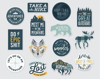 Mix & Match Wilderness Adventure Stickers    Vinyl Sticker Design
