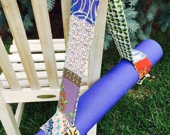 Recycled, Upcycled Yoga Mat Strap, Carrier
