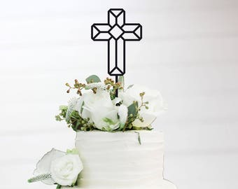Cake Topper Cross graphically Modern in Wish color