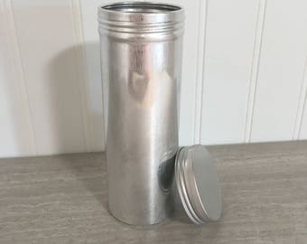 Small Silver Cylinder Tin - Set of 10