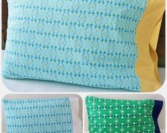 Organic Standard Pillowcase Handmade, Organic Pillowcase, Pillow Cases, Wallflowers, Floral Pillowcase, Organic Cotton Pillowcase, Organic