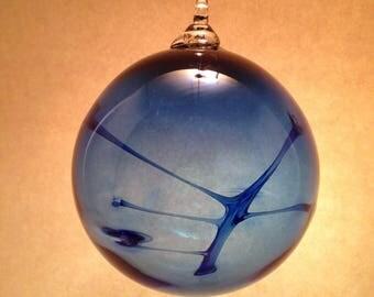 Dark Blue Blown Glass Witch Ball