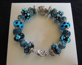 MY BEST FRIEND...Authentic Pandora Bracelet -or- European Bracelet - with European Style Beads...by TLCcharms