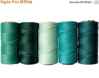 ON SALE Waxed Cord, 50 meters Linhasita - Macrame Cord, Bracelet Thread, Waxed Polyester, Jewelry Cord