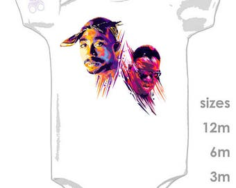 2pac & Biggie - GOAT Rap - Fun onesie for your little hiphop baby - Notorious BIG - Tupac Shakur