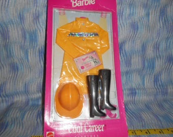 1997 Barbie Cool Career Fashions-Sealed-Firefighter