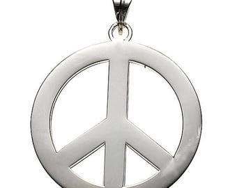 ON SALE Peace Pendant In Sterling Silver