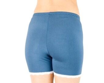 50% OFF Blue Tap Pants Organic Bamboo Anti Chafe Shorts Soft Pajama Bottoms