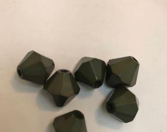 Vintage olive green beads 8 for 1.99