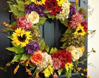 summer wreaths spring wreaths for front door wreaths sunflowers outdoor country decorations welcome boxwood wedding front door wreaths