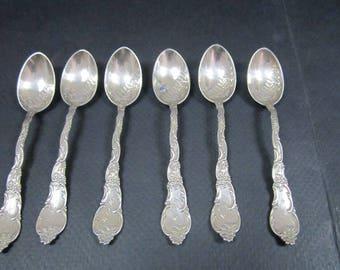 Sterling Silver 6 Demitasse spoon