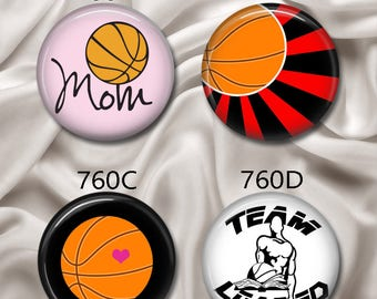 """Love Team Loaded Basketball - Interchangeable Magnetic Design Inserts - FIT Clique 1"""" Pendant - Use Coupon Code LOADED for 10% Off...760"""