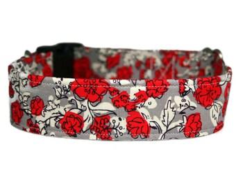 "Floral Dog Collar 1"", 1.5"" or 2"" Dog Collar"