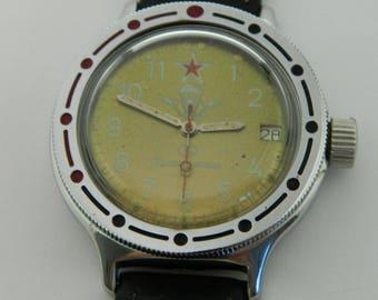 USSR Russian watch Wostok Vostok Komandirskie Amphibian #262