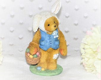 """1994 Cherished Teddies """"Peter"""" Figurine/You Are Some Bunny Special/ Good Condition/Enesco Figurine"""