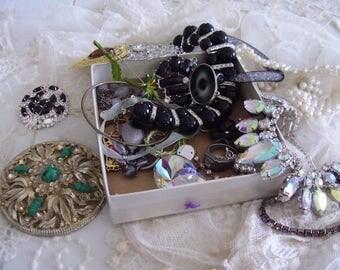 Vintage Jewelry Destash Lot/Craft supply