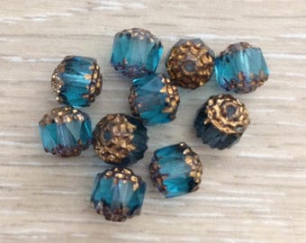 Cathedral Beads, 8mm Beads, Glass Beads, Chez Glass Beads