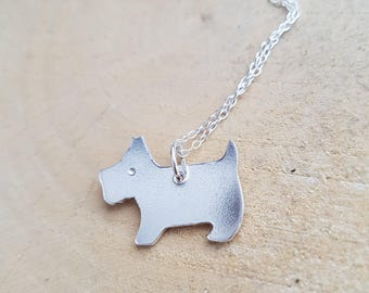 Terrier Necklace, Dog necklace,Dog Jewellery, Silver Pendant, Silver dog necklace, Terrier, Necklace Pet necklace, Terrier dog