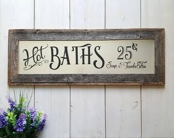 Bathroom Signs Metal galvanized metal   etsy