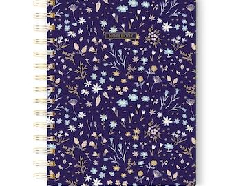 Pretty Notebook, Flowers Notebook, Writing Journal, Spiral Notebook, School Stuff, Memory Book, Notebook Gift, Valentines Gift
