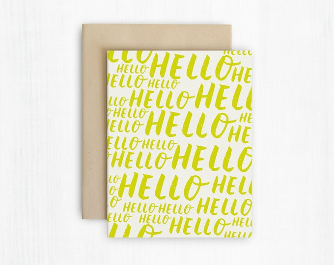 Hello - Everyday Hand Lettered Greeting Card
