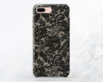 iPhone X Case iPhone 8 Case iPhone 7 Case Black Lace iPhone 7 Plus iPhone 6s Case iPhone SE Case Galaxy S8 Case Galaxy S8 Plus Case T115d
