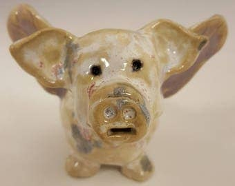 Flying Pig Ceramic Whistle Handmade