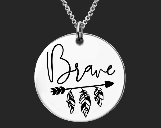 Brave | Get Well Gifts | Inspirational | Faith Gifts | Gift for a Friend | Faith Gift | Personalized Gifts | Korena Loves
