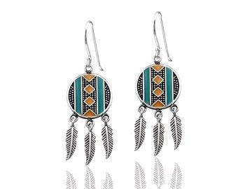 Ethnic Silver Earrings