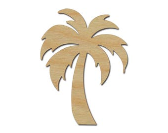 Palm Tree Shape Unfinished Wood Craft Cutouts Variety of Sizes Artistic Craft Supply